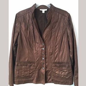 EUC Coldwater Creek bronze jacket blazer size 12P
